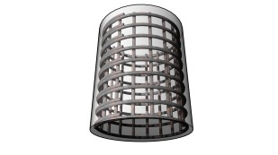 Circular rebar shape with parametric overlap