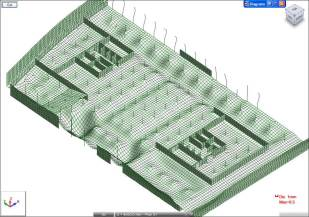 Barcode foundation slab gravity deflection