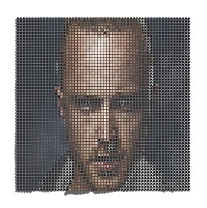 Jesse Pinkman's face as Revit Adaptive Components from Dynamo