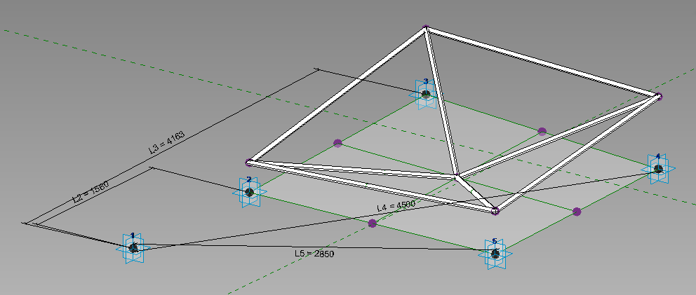 Space Frame with Spherical Layout in Revit using Divided