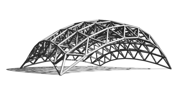 Space Frame with varying thickness
