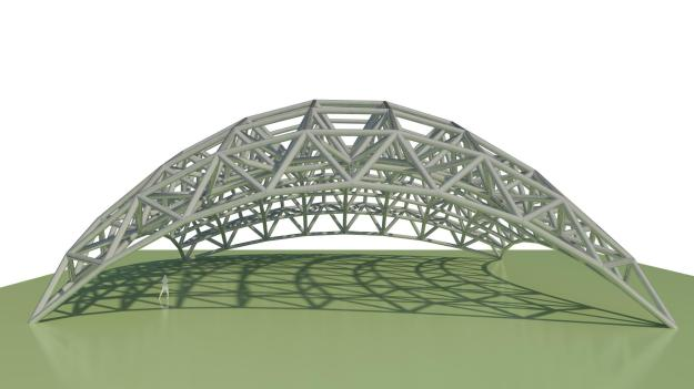 Space Frame with Structural Framing in Dynamo