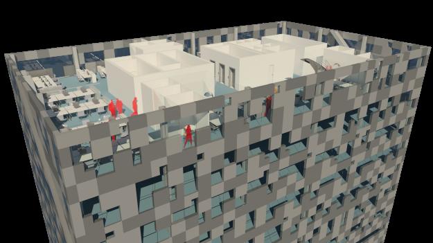 Pixel Facade 14. floor