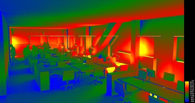 14. floor illuminance analysis render