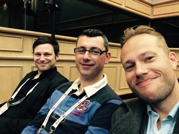 Andreas, Julien and me at RTCEUR 2014 in Dublin