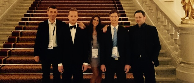Julien, me, Margarida, Arne and Andreas at the Corinthia